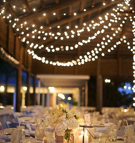 guirnaldas  luces para bodas